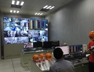 楼宇监控系统安装现场