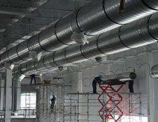 净化厂房空调风管安装